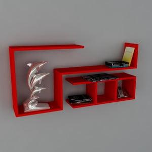 Police Finito Book Red, 22x117x55,5 cm