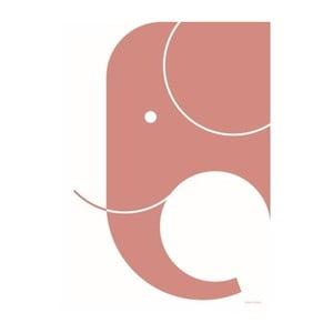 Poster SNUG.Elephant, 50x70 cm, roz