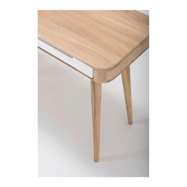 Konzolový stolek z dubového dřeva Gazzda Ena, 110x42x75cm