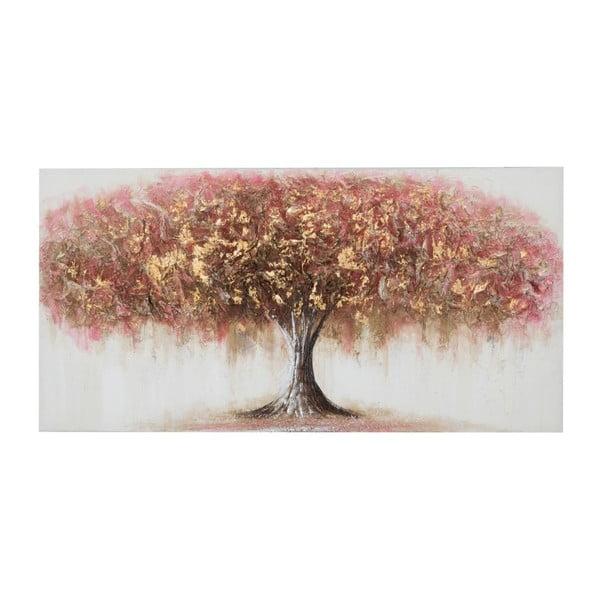 Ručne maľovaný obraz v ráme z borovicového dreva Mauro Ferretti Albero Ofly, 120×60 cm