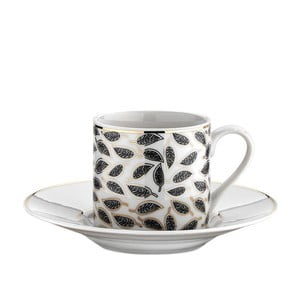 Sada 6 porcelánových šálků s podšálkem Kutahya Meddi, 50 ml