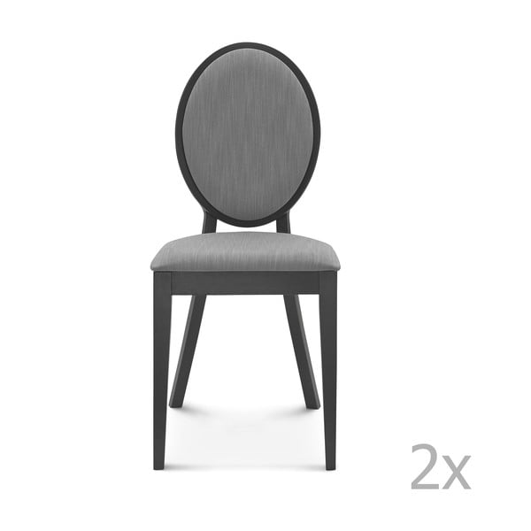 Set 2 scaune de lemn Fameg Anesa, negru