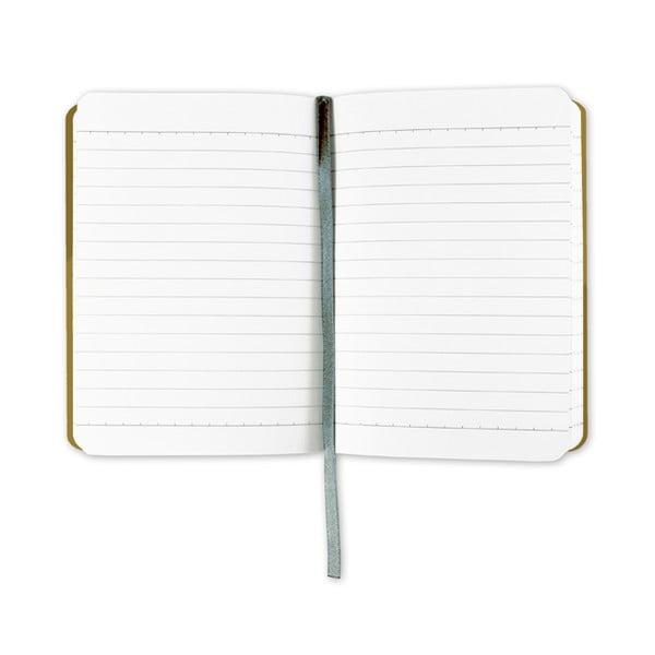 Linkovaný zápisník A6 s monogramem Portico Designs Y, 160stránek
