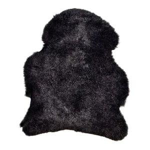 Blană de oaie cu fir scurt Black, 90x60 cm
