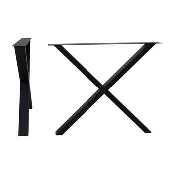 Picioare din oțel pentru masă House Nordic Nimes, lungime 86 cm, negru imagine