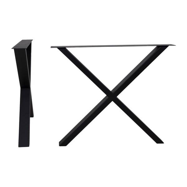 Nimes fekete acél lábszerkezet étkezőasztalhoz, hosszúság 86 cm - House Nordic