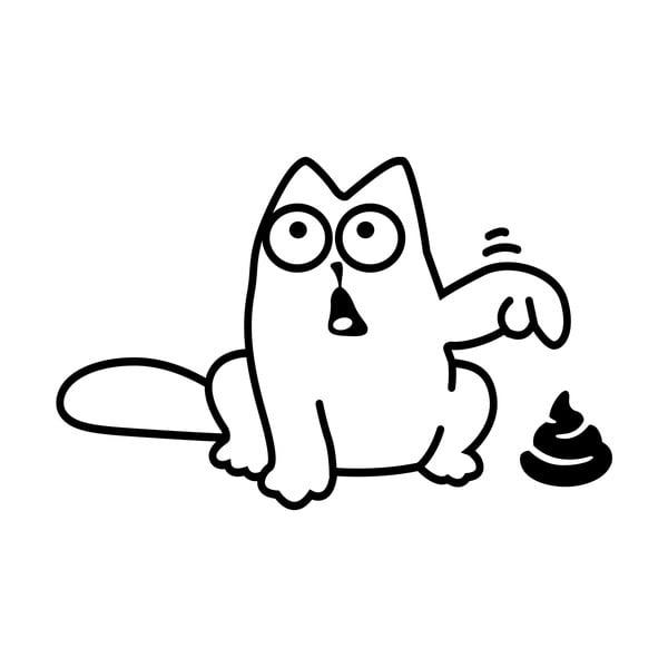 Samolepka Ambiance Funny Cat
