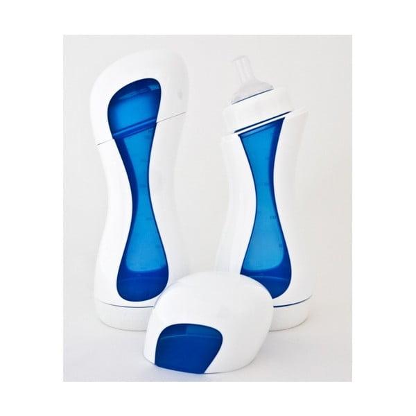 Kojenecká lahev Home, bílá/modrý střed
