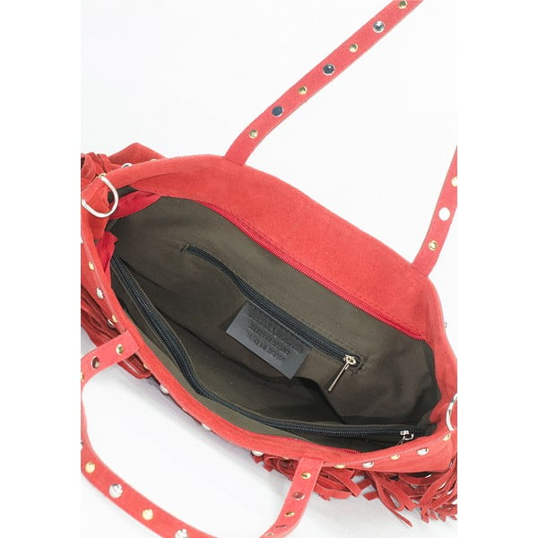 Kožená kabelka Lisa Minardi 136 Bordo