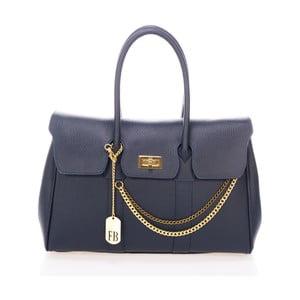 Tmavě modrá kabelka z pravé kůže Federica Bassi Coolio