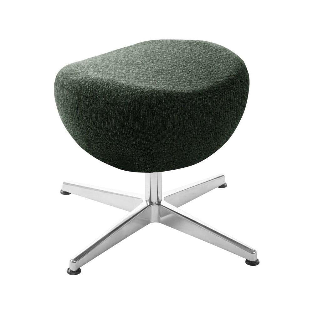 Tmavě zelená otočná stolička/podnožka My Pop Design Indiana