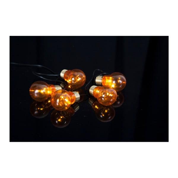 Oranžový světelný LED řetěz Best Season Glow Battery, 5 světýlek