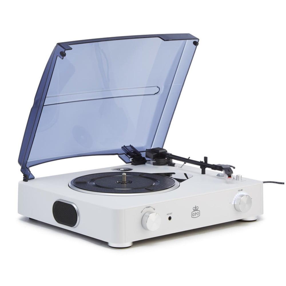 Bílý gramofon GPO Stylo II Chalk White