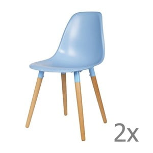 Sada 2 modrých židlí WOOOD Roef