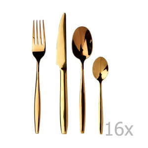 Set 16 tacâmuri din oțel inoxidabil Premier Housewares Aura
