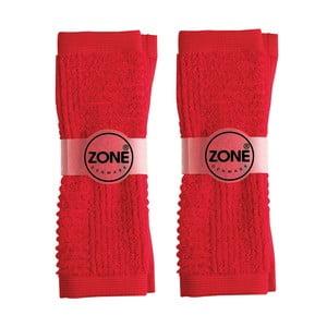 Pár malých ručníků, 2ks, 30x30 cm, červené