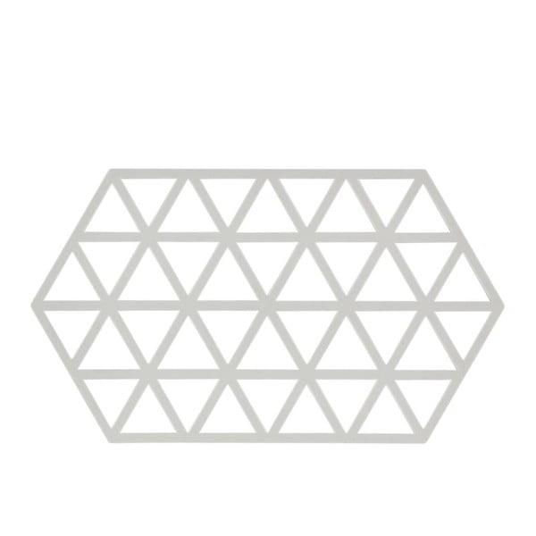 Triangles világosszürke szilikon edényalátét - Zone