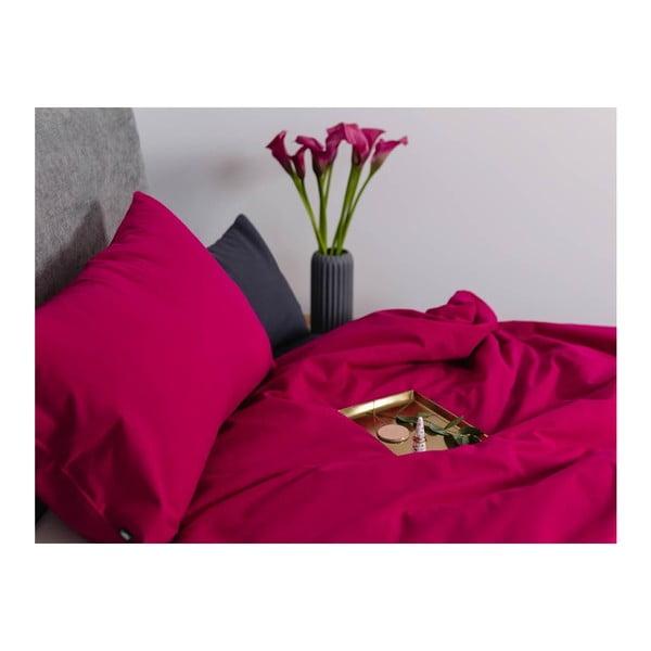 Malinově růžové bavlněné povlečení na dvoulůžko Mumla, 200x220cm