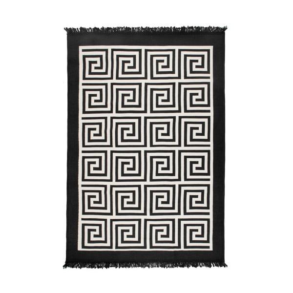 Beżowo-czarny dywan dwustronny Framed, 80x150 cm