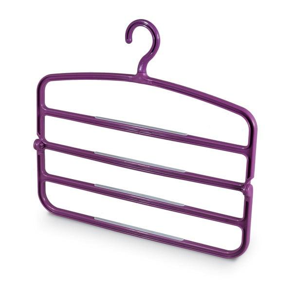 Fioletowy wieszak na 4 pary spodni Domopak Living