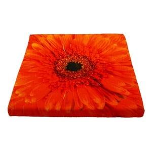 Sedák Flower Orange 50x50 cm