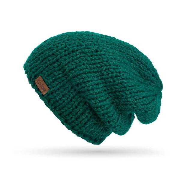 Zielona ręcznie tkana czapka DOKE Mina