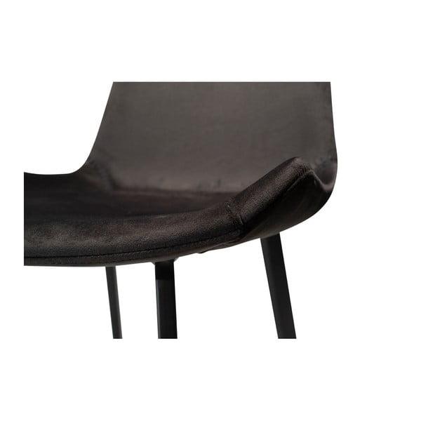Černá barová židle DAN–FORM Denmark Hype Velvet