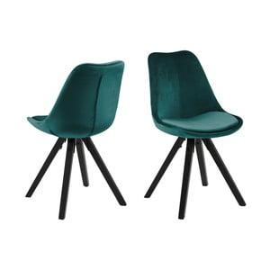 Zelená jídelní židle Actona Dima