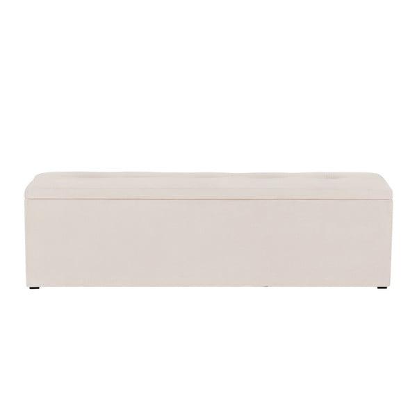 Ladă tapițată cu spațiu de depozitare Kooko Home, 47 x 160 cm, bej