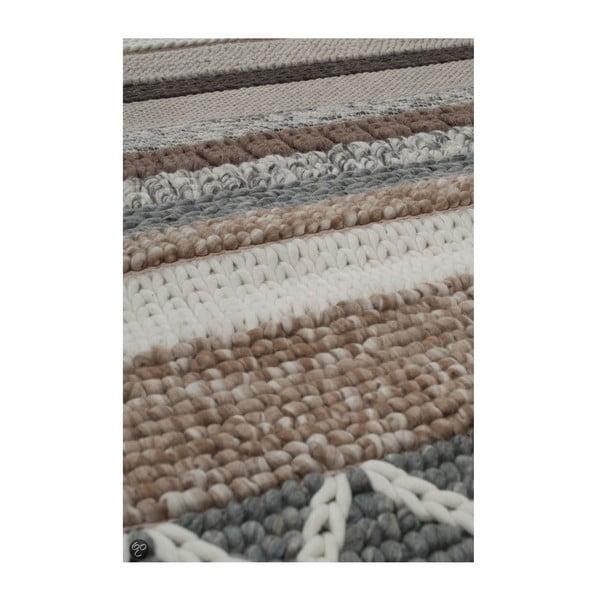 Vlněný koberec Norway Beige 240x170 cm