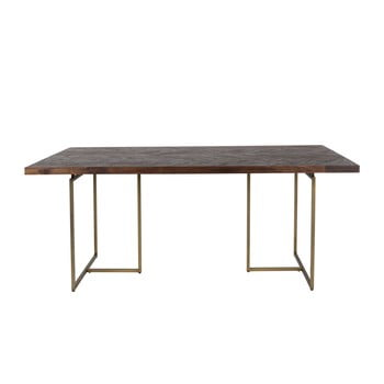 Masă cu structură din oțel Dutchbone Aron, 180 x 90 cm de la Dutchbone