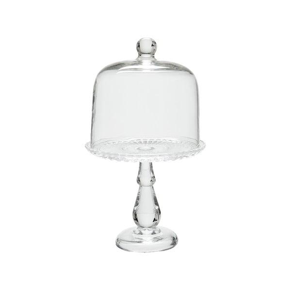 Skleněný podnos s poklopem Glass Bell