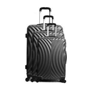Set 3 valize de mână, pe roți, Hero Lagos, negru
