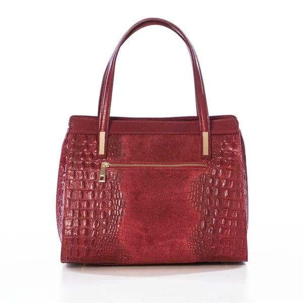 Kožená kabelka Croco Red
