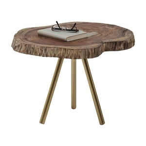 Măsuță cu blat din lemn de mango Kare Design Macchia