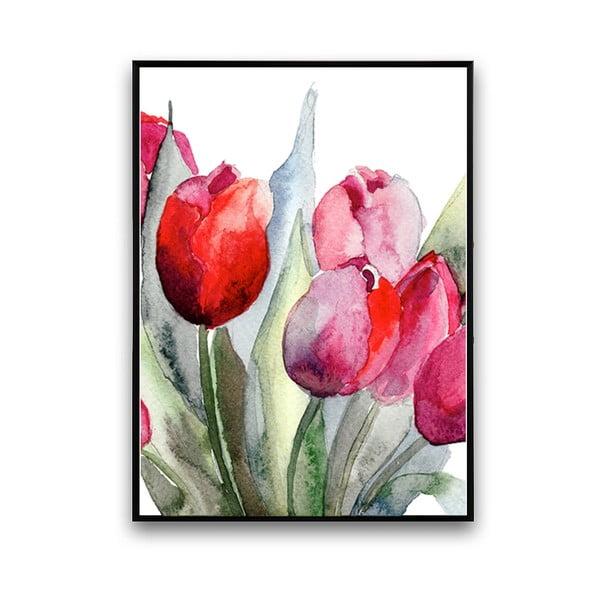 Plakát s tulipány, 30 x 40 cm