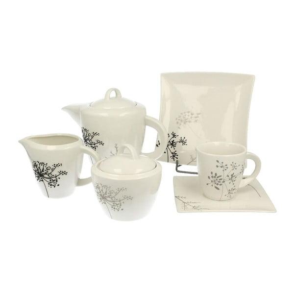 Porcelánový kávový set Fino, 21 ks