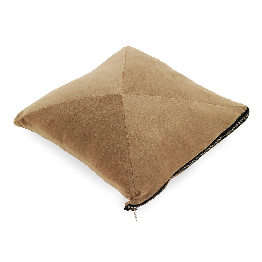 Světle hnědý polštář Geese Soft, 45 x 45 cm