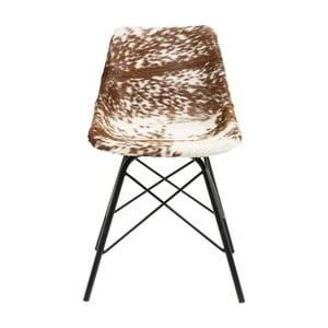 Scaun cu tapițerie din piele Kare Design Haudy