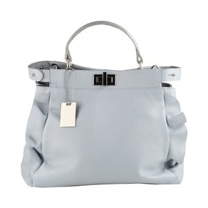 Světle modrá kožená kabelka Matilde Costa Zeri