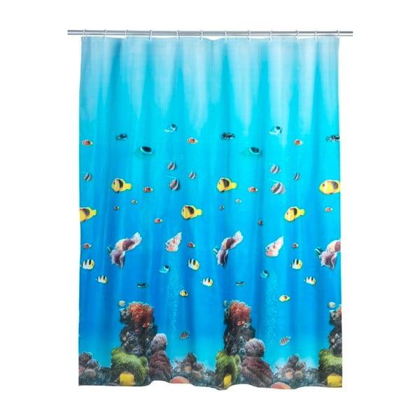 Ocean kék zuhanyfüggöny, 180 x 200 cm - Wenko