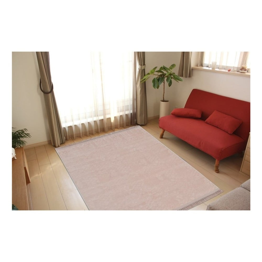 Růžový koberec Aksu Sude, 150 x 80 cm