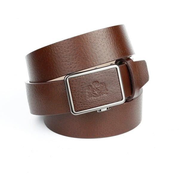 Pánský kožený pásek 37J40 Brown, 100 cm