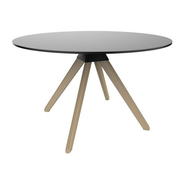Masă cu picioare din lemn de fag Magis Cuckoo, ø 75 cm, negru