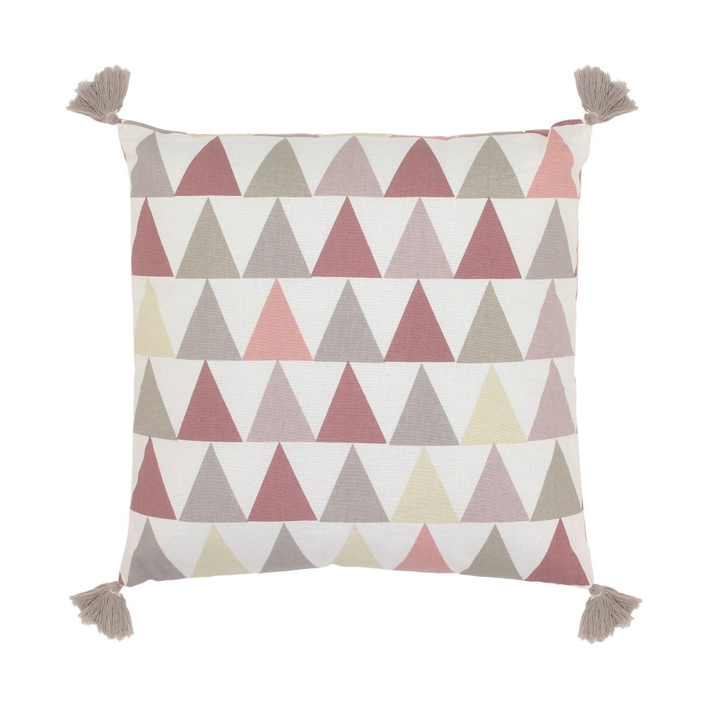 Polštář Art For Kids Pink Triangles, 40 x 40 cm