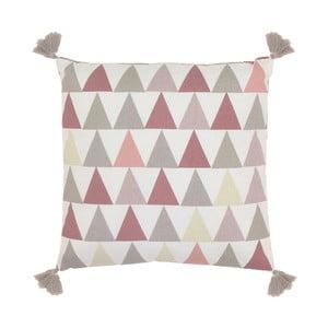 Polštář Art For Kids Pink Triangles, 40x40cm