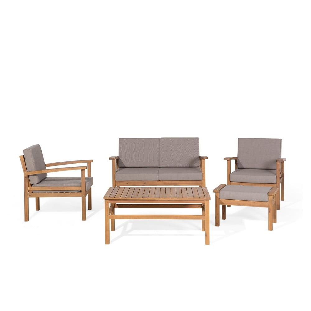 Set zahradního nábytku z certifikovaného akáciového dřeva Monobeli Seaside