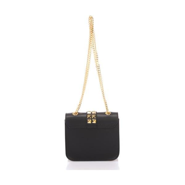 Černá kožená kabelka Giulia Massari Skata
