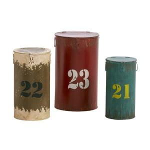 Sada 3 úložných boxů Metalholder