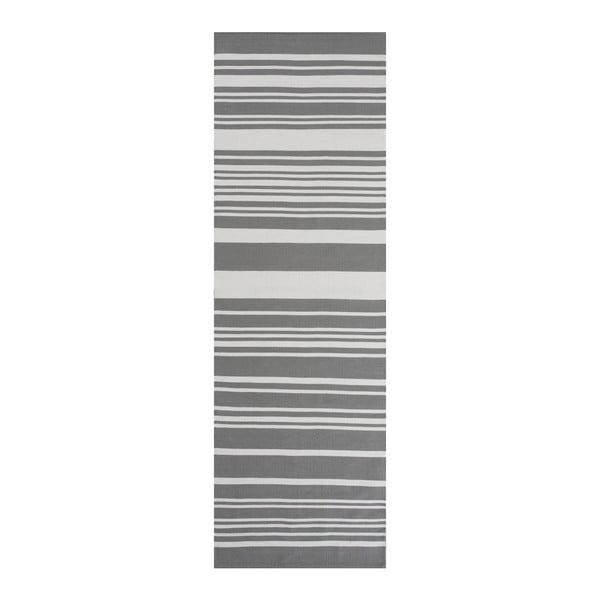 Šedý bavlněný koberec Linie Design Glorious, 60x90cm
